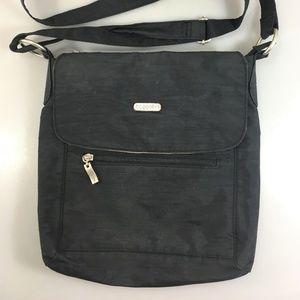 Baggallini Black Nylon Cross-Body Shoulder Bag